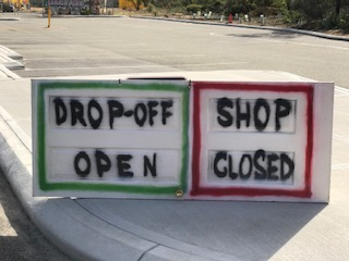 Storm damage closes temporary shop